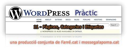 wodpress practic 11 - pàgines, categories i etiquetes