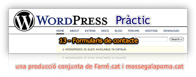 WordPress Pràctic 13 – Formularis de Contacte