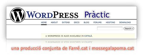 WordPress Pràctic en col·laboració amb Farré.cat