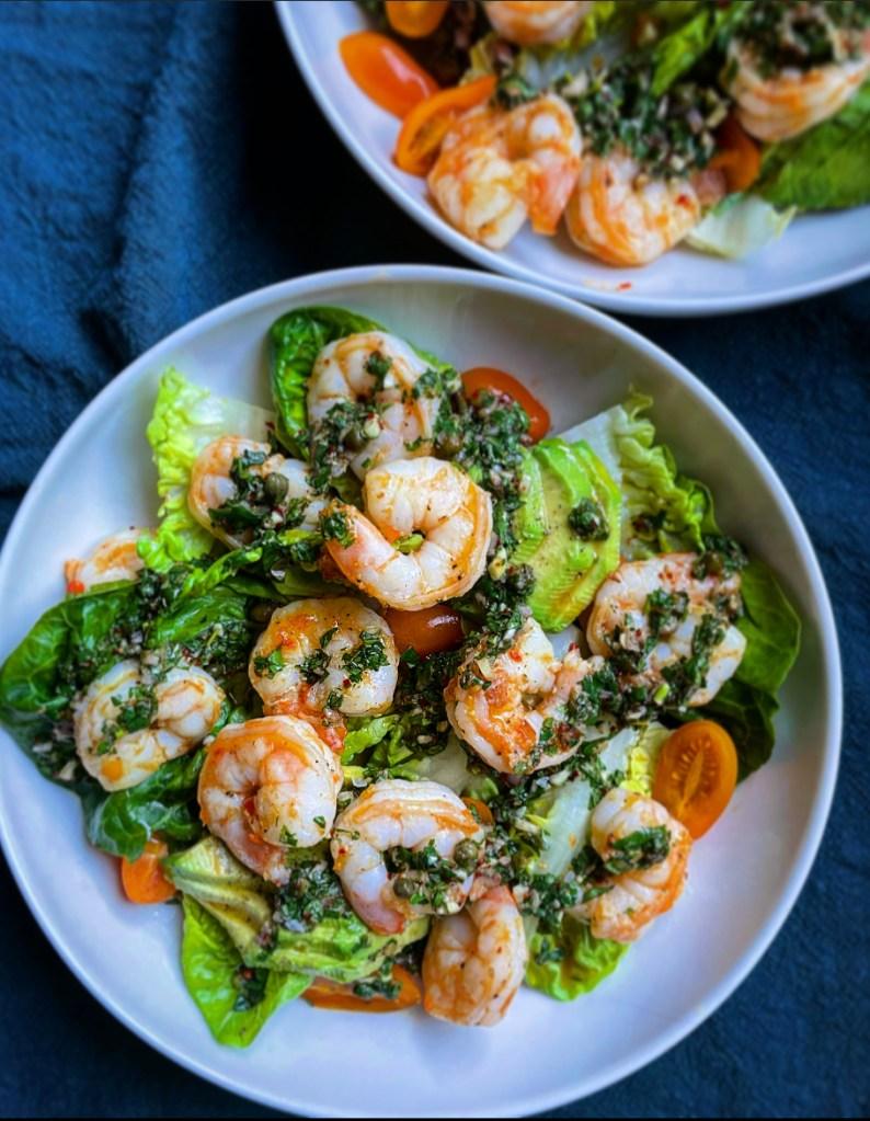 Calabrian Shrimp and Avocado Salad