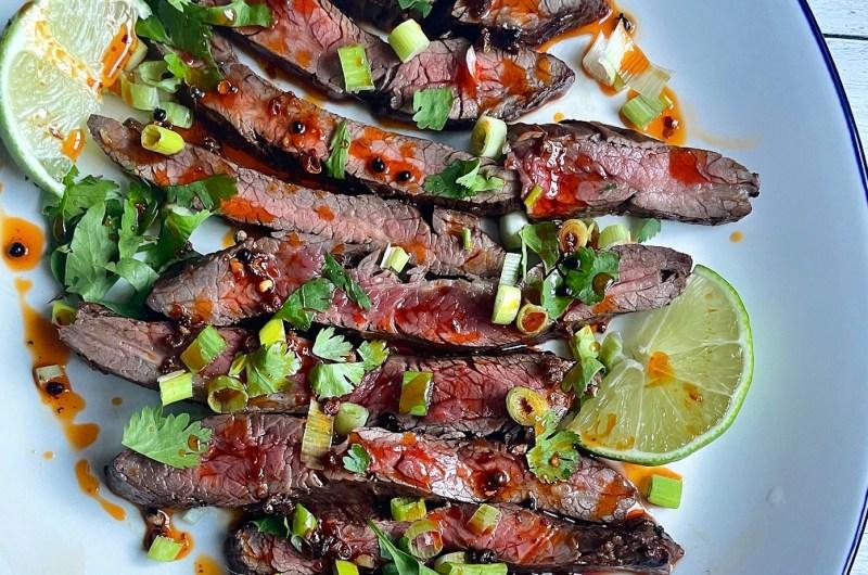 Vinegary Black Bean Steak with Sichuan Peppercorn Oil