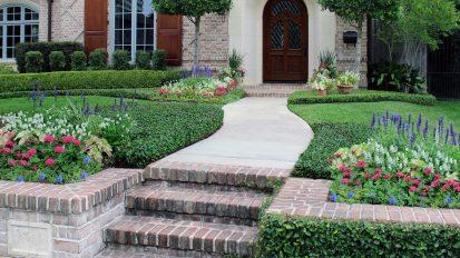 Brick Tudor Gardens – River Oaks, Houston