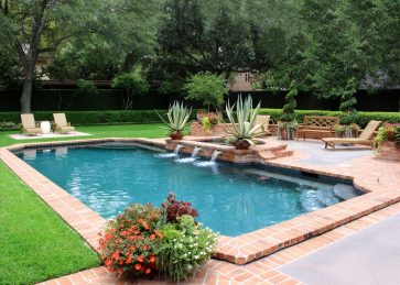 What an ideal setting for summertime in Houston! We continue to maintain this beautiful property in River Oaks. The potted plants were designed by Baldridge Landscape, who did an exceptional job!