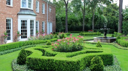 Formal English Gardens – River Oaks, Houston
