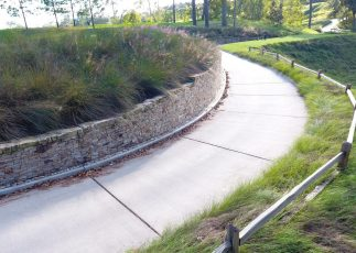 Retaining wall we designed and built for the golf course of this private club.