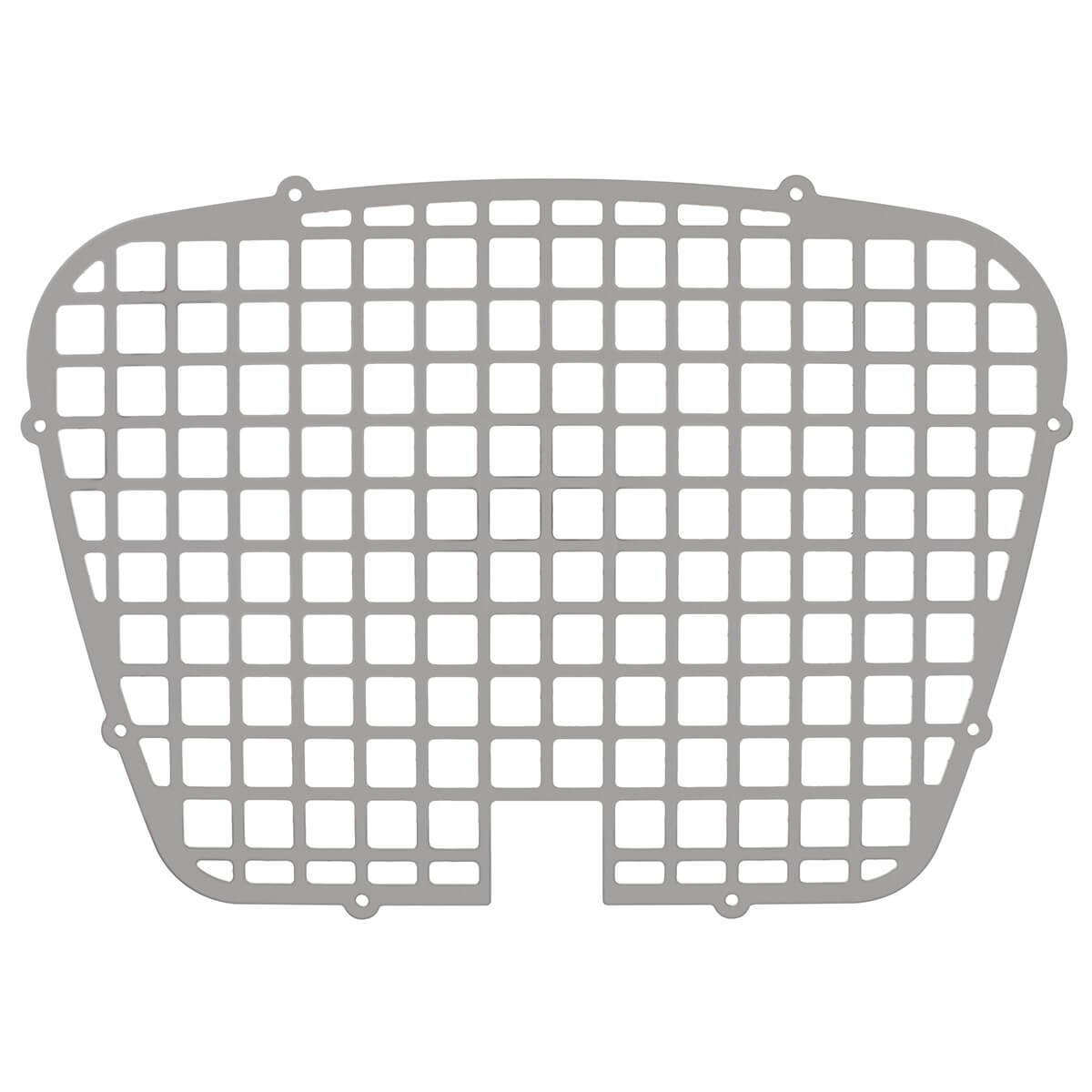 870 040 Grille Polished Aluminum Stamped