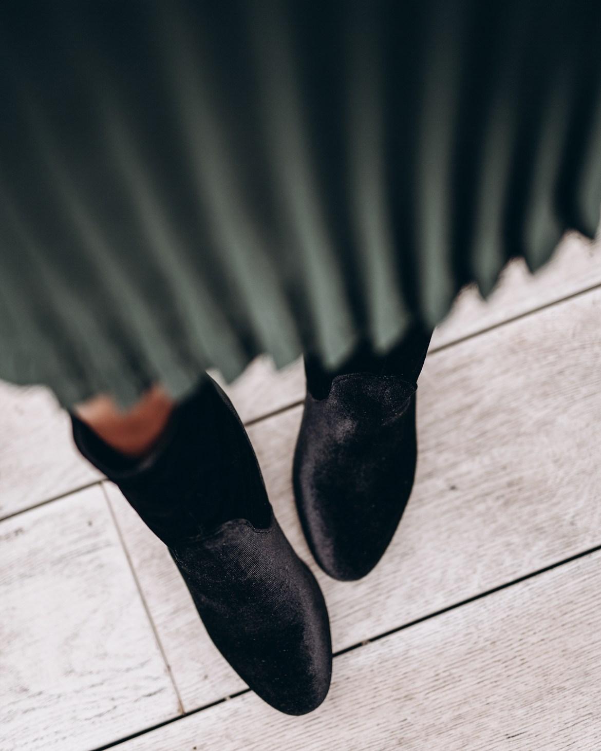 Valerie Velvet Sock Boots
