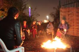 fireside poetry and storytelling at the day of the dead event