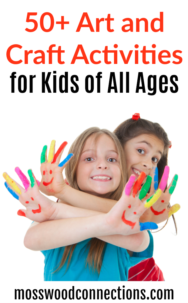 50+ Art and Craft Activities for Kids of All Ages #Artsand Crafts #CraftsforKids #ArtProjects #FineMotor #Upcycled