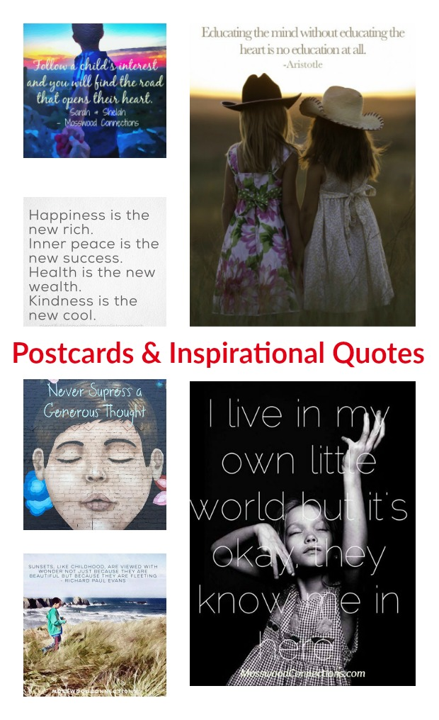 Postcards & Inspirational Quotes