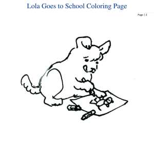 Lola the Therapy Dog Book Series Activities