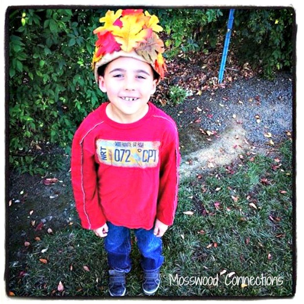 Autumn Leaf Hats; A Simple Craft for Kids