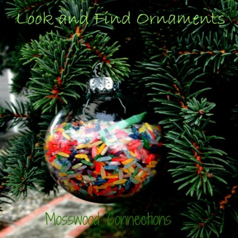 Crayon Look and Find Ornament