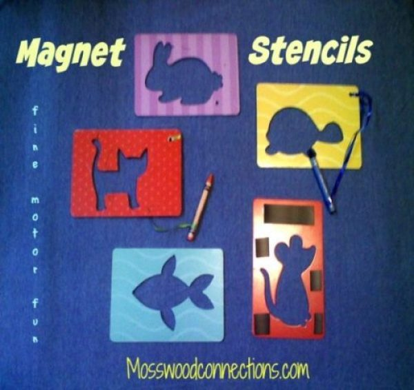 Magnet Stencils: Fine Motor Fun with this Easy drawing activity