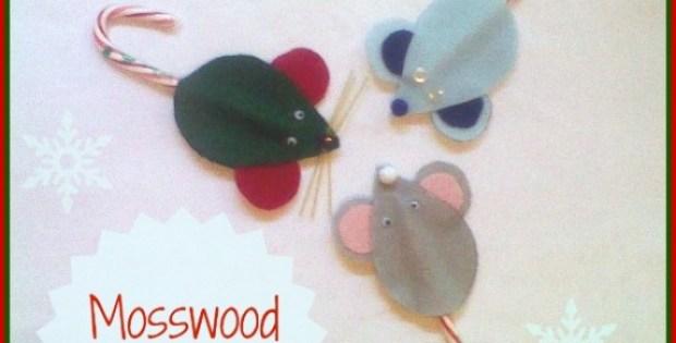 Kid-Made Mice Christmas Ornaments