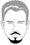 Beard Types - Anchor Beard - Mossy Beard