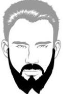 Beard Types - French Fork Beard - Mossy Beard