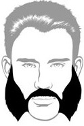 Beard Types - Mutton Chops Beard - Mossy Beard