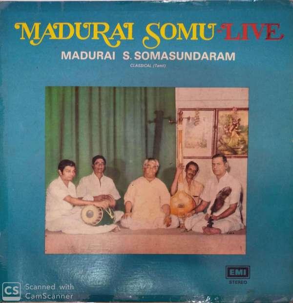 Madurai Somu -Live Classical tamil by Madurai .S. Somasundaram LP vinyl Record www.mossymart.com