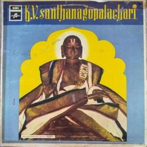 Hindu Devotional Classical LP Vinyl Record by K V Santhanagopalachari www.mossymart.com