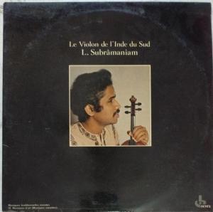 Violin Instrument LP Vinyl Record by L Subramaniam www.mossymart.com
