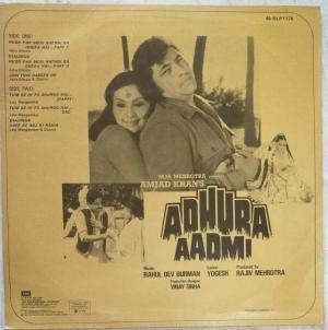Aahura Aadmi Hindi Film LP Vinyl Record by RD Burman www.mossymart.com