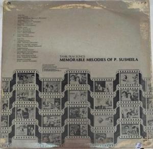 Tamil Film Songs Memorable Melodies of P Susheela LP Vinyl Record www.mossymart.com