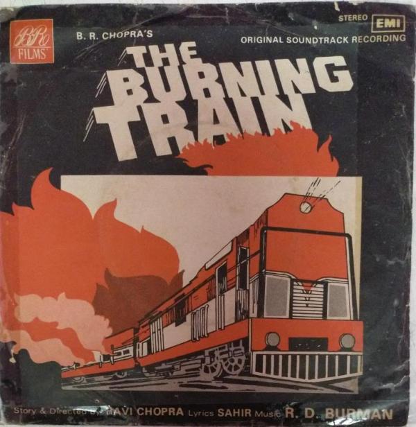 The Burning Train Hindi Film EP Vinyl Record by R D Burman www.mossymart.com
