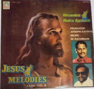 Jesus and Melodies Vol 3 Tamil LP Vinyl Record www.mossymart.com