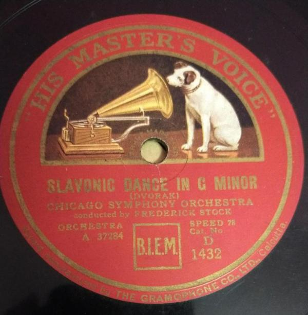 Slavonic Dance in G Minor Chicago Sympony Orchestra 78 RPM record by Frederick Stock 37284 www.mossymart.com