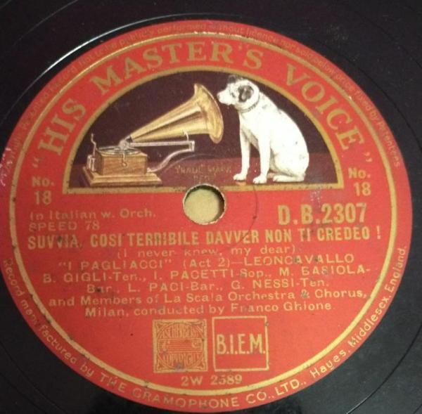 Suvvia Cosi Ternible Davver Non Ti Credeo 78 RPM Record by La Scala Orchestra D B 2307 www.mossymart.com