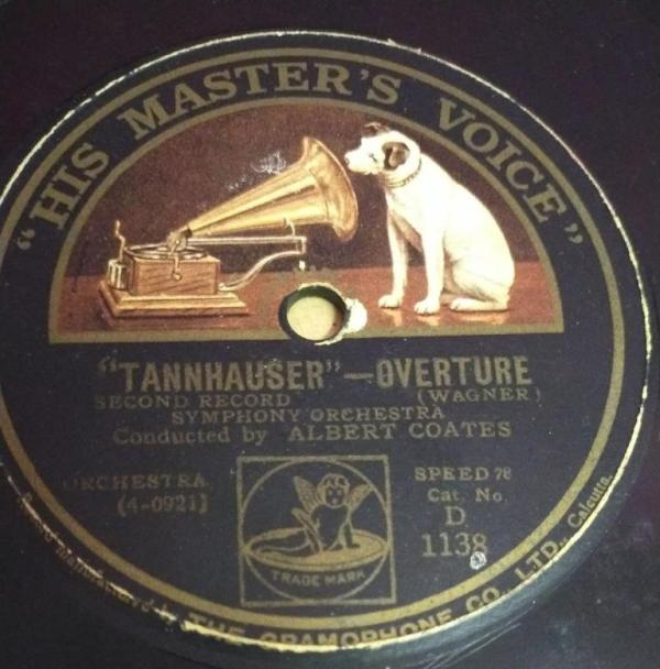 Tannhauser Overture Symphony Orchestra 78 RPM Record by Albert Coates D 1138 www.mossymart.com