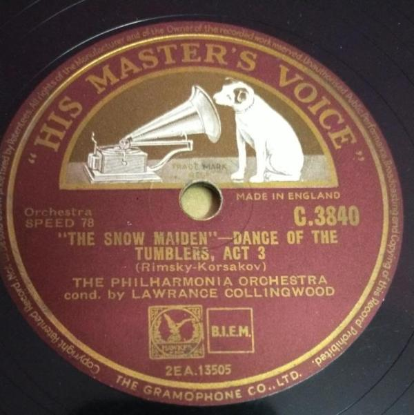 The Snow Maiden Dance of the Tumblers 78 RPM Record by The Philharmonia Orchestra C 3840 www.mossymart.com