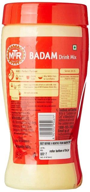 MTR Instant Badam Drink Mix 500 g Pet Jar