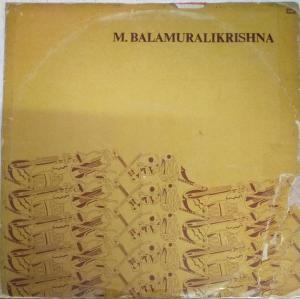 Carnatic Vocal LP Vinyl Record by M Balamuralikrishna www.mossymart.com