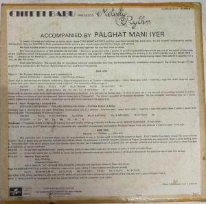 ChittiBabu presents Melody Rythm LP Vinyl Record www.mossymart.com