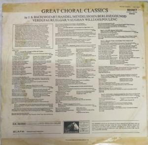 Great Choral Classics LP Vinyl Record www.mossymart.com