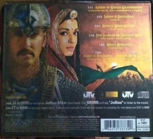 Jodhaa Akbar Hindi FIlm Audio CD by A R Rahman www.mossymart.com