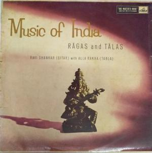 Music of India Ragas and Talas LP Vinyl Record by Ravi shankar Sitar with Alla Rakha Tabla www.mossymart.com