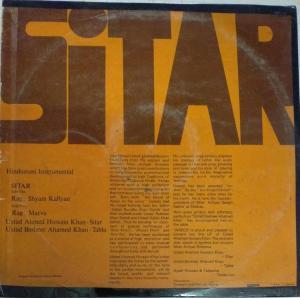 Sitar Instruments LP Vinyl Record by Ustad Ahmed Hussian Khan www.mossymart.com