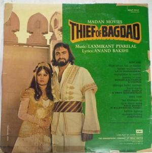 Thief of Bagdad Hindi Film LP Vinyl Record by Laxmikant Pyarelal www.mossymart.com