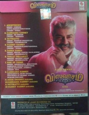 Viswaasam Tamil Film Audio CD by D Iman www.mossymart.com
