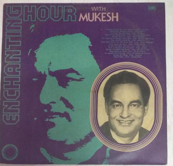 Enchanting Hour with Mukesh Hindi Film hits LP VInyl Record www.mossymart.com