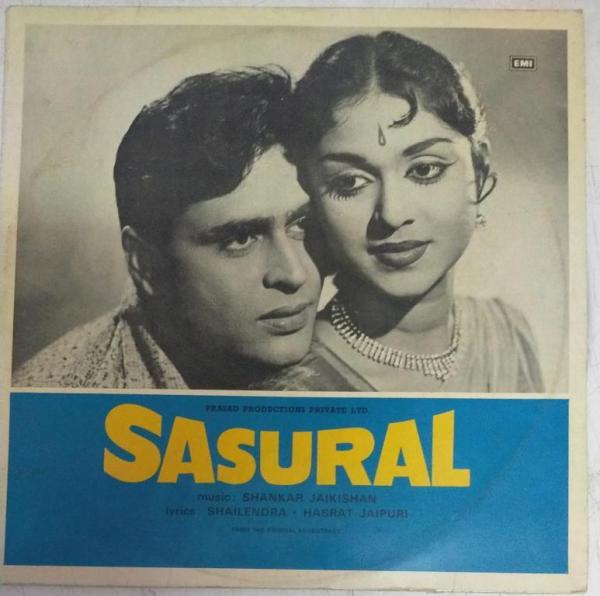 Sasural Hindi Film LP VInyl Record by Shankar Jaikishan www.mossymart.com