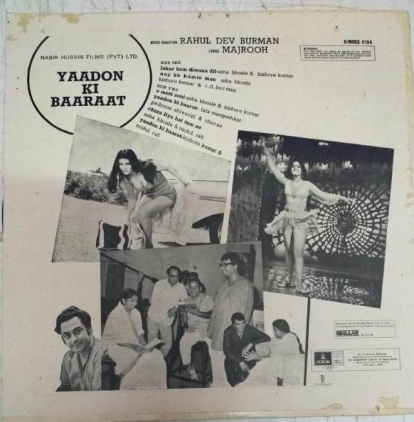 Yaadon Ki Baaraat Hindi Film LP Vinyl Record by R D Burman www.mossymart.com