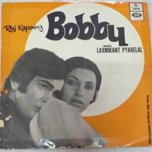 Bobby Hindi FIlm EP Vinyl Record by Laxmikant Pyarelal www.mossymart.com