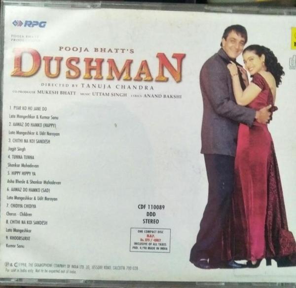 Dushman Hindi Film Audio CD by Uttam Singh www.mossymart.com 2