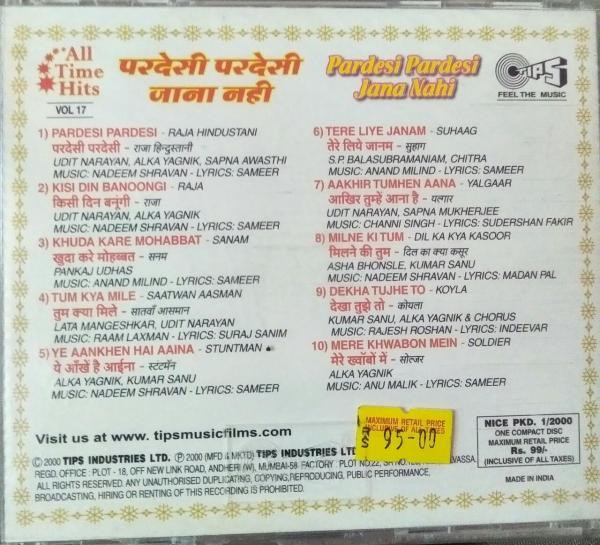 Paradesi Paradesi Jana Nahi - All Time Hits Vol-17 - Hindi Audio CD - www.mossymart.com