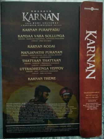 Karnan - Tamil Audio CD by Santhosh Narayanan - www.mossymart.com