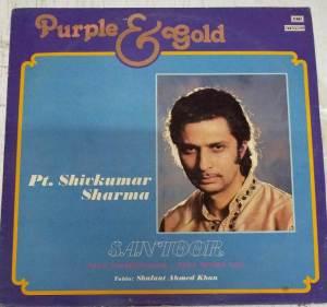 Purple & Gold Instrumental santoor LP Vinyl Record by Pt.Shivkumar Sharma www.mossymart.com 1
